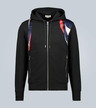 Alexander McQueen Block color cotton hooded sweatshirt