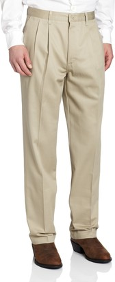 Wrangler Mens Riata Pleated Relaxed Fit Casual Pant