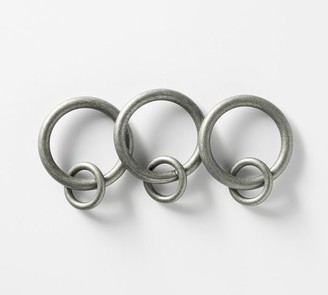 Pottery Barn Cast Iron Pewter Curtain Round Rings