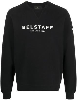 Belstaff Crew Neck Logo Sweatshirt
