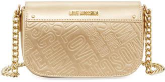 Love Moschino Borsa Metallic Faux-Leather Logo Shoulder Bag