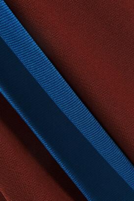 Victoria Beckham Cutout Draped Knitted Midi Dress
