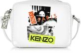 Kenzo Paris White Patent Leather Mini Camera Bag