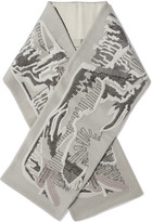 Rick Owens Embroidered cashmere scarf