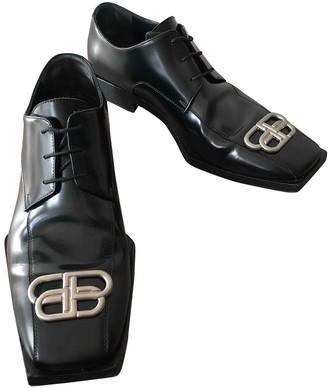 Balenciaga Black Leather Lace ups