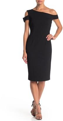 trina Trina Turk Enchantment Off-the-Shoulder Sheath Dress