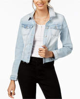 Celebrity Pink Juniors' Ripped Denim Jacket