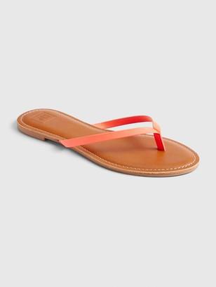 Gap Faux Leather Flip Flops