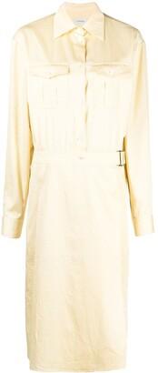 Lemaire Wrap Cotton Shirt Dress
