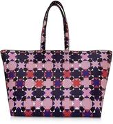 Emilio Pucci Pink and Multicolor Symbols Print Leather Tote