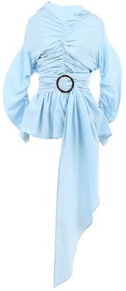 Isa Arfen Blue Cotton Top for Women