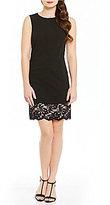 Calvin Klein A-Line Lace Hem Sleeveless Dress