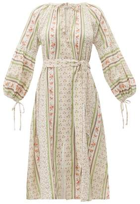 D'Ascoli Devon Print Cotton Voile Dress - Womens - Pink