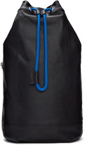 Diesel Black L-signatured Backpack