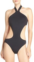 Vince Camuto Halter One-Piece Swimsuit