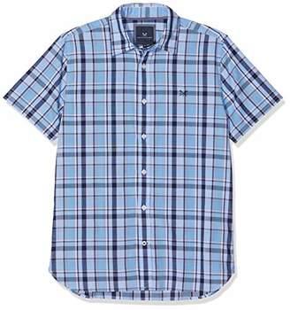 Crew Clothing Men's Pendower Cotton Check Ss Shirt Casual,19 (Size:XXL)