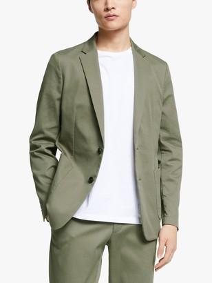 John Lewis & Partners Kin Italian Ottoman Tailored Blazer, Khaki