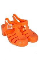 Select Fashion Fashion Womens Orange Chunky Jelly Sandal - size 6