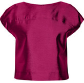 Raoul Cropped Wool And Silk-Blend Top