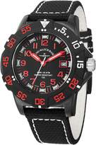 Zeno Black Dial Black Fabric Strap Men's Watch