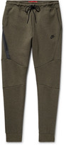 Nike Slim-fit Tapered Cotton-blend Tech Fleece Sweatpants - Army green