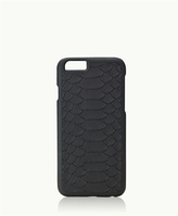 GiGi New York iPhone 6/6s Hard-Shell Case Black Embossed Python