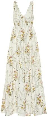 Brock Collection Raiera floral stretch-cotton maxi dress