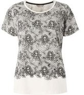 Dorothy Perkins Womens Lace Mix And Match Pyjama Top- White