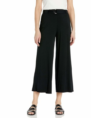 Three Dots Women's LD3248 Refined Jersey Wide Leg Pant