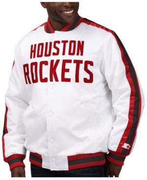 Starter Men's Houston Rockets The D-Line Starter Satin Jacket