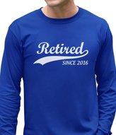 TeeStars Retired Since 2016 - Cool Retirement Gift Idea Novelty Long Sleeve T-Shirt