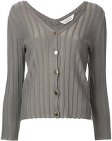Torrazzo Donna - ribbed V-neck cardigan - women - Rayon - One Size