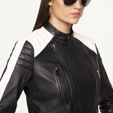 Ralph Lauren Black Label Denim Moto Leather Quinly Jacket