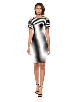 Calvin Klein Women's Cold Shoulder Sheath Dress with Back Zipper