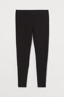 H&M H&M+ Cotton Leggings - Black