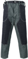 Comme des Garcons striped layered loose-fit trousers - men - Cotton - L
