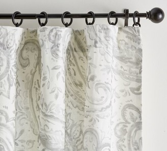 Pottery Barn Melana Paisley Rod Pocket Curtain