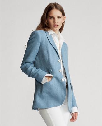 Ralph Lauren Herringbone Linen-Blend Blazer