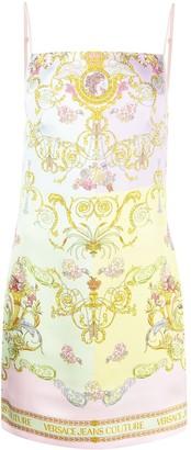 Versace Jeans Couture Versailles-print spaghetti-strap dress