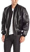 Alpha Industries Men's MA-1 Leather Bomber Jacket