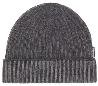 Burberry Ribbed-knit Cashmere Beanie Hat - Dark Grey