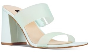Nine West Gya Semi-Opaque High-Heel Mule Sandals Women's Shoes