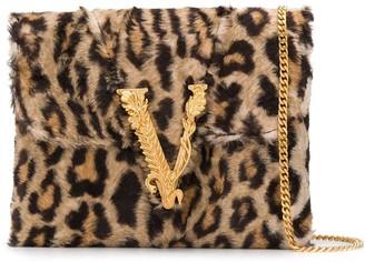 Versace Virtus leopard print clutch
