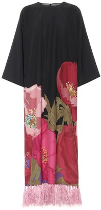 Valentino Printed silk-crepe gown