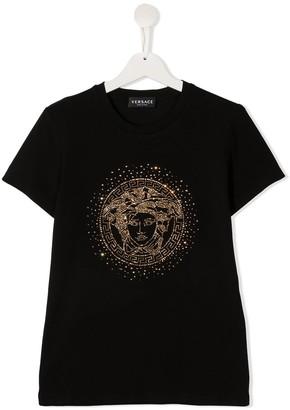 Versace TEEN Medusa-head stretch-cotton t-shirt