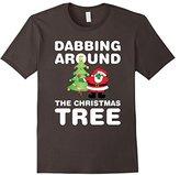 Dabbing Around Christmas Tree Shirt For Youth, Kids, Girls