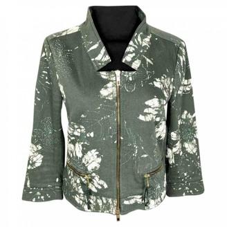 Marella Green Cotton Jacket for Women