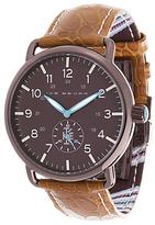 Ike Behar The Field Leather Watch, 41mm