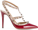 Valentino Rockstud ankle strap pumps - women - Leather/Patent Leather - 35