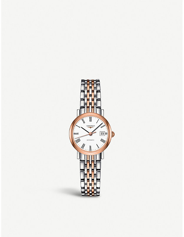 L4.309.5.11.7 Elegant Stainless Steel And Rose Gold Watch by Longines